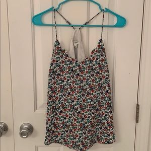 J. Crew Factory scalloped floral tank, size 2